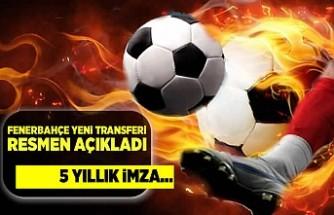 Fenerbahçe yeni transferi resmen açıkladı! 5 yıllık imza...