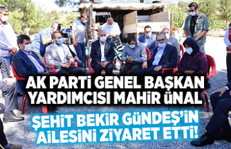 AK Parti Genel Başkan Yardımcısı Mahir Ünal, Şehit Bekir Gündeş'in ailesini ziyaret etti!