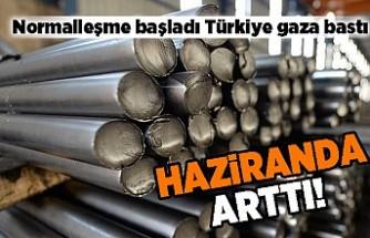 Normalleşme başladı Türkiye gaza basmaya başladı! Haziranda arttı