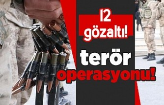 Terör operasyonu! 12 gözaltı!