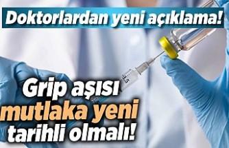Doktorlar açıkladı, grip aşısı mutlaka yeni tarihli olmalı!