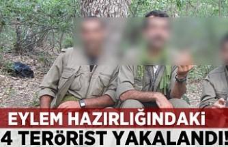 Eylem hazırlığındaki 4 terörist yakalandı!