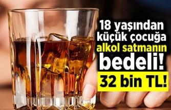 18 yaşından  küçük çocuğa alkol satmanın bedeli! 32 bin TL!