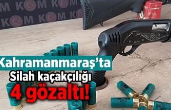Kahramanmaraş'ta silah kaçakçılığı 4 gözaltı!