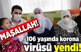 106 yaşındaki korona virüsü yendi! Maşallah!
