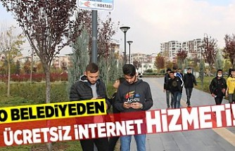 O belediyeden ücretsiz internet hizmeti!