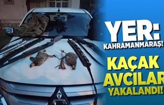 Kaçak avcılar Kahramanmaraş'ta yakalandı!