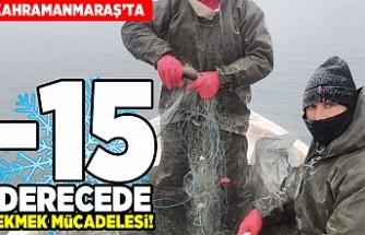 Kahramanmaraş'ta -15 derecede ekmek mücadelesi!