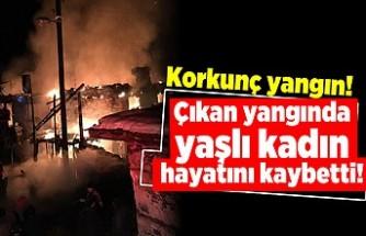 Korkunç yangın! Çıkan yangında yaşlı kadın hayatını kaybetti!