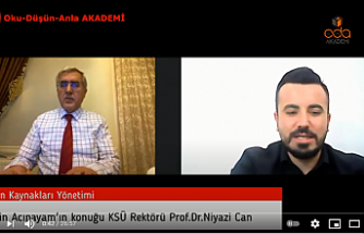 OKU-DÜŞÜN-ANLA AKADEMİ You tube Eğitim kanalında KSÜ REKTÖRÜ PROF.DR.NİYAZİ CAN, Eğitim Danışmanı Metin Acıpayam'ın konuğu oldu.