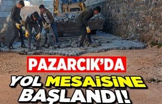 Pazarcık'da yol mesaisine başlandı!