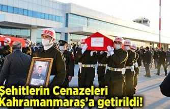 Bitlis şehitleri Kahramanmaraş'a getirildi