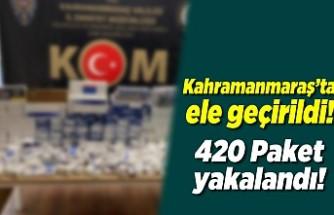 Kahramanmaraş'ta ele geçirildi! 420 paket...