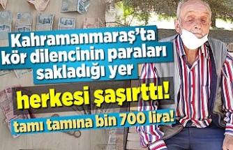 Kahramanmaraş'ta kör dilencinin paraları sakladığı yer herkesi şaşırttı!