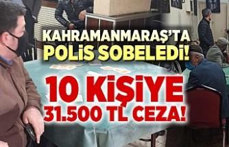 Kahramanmaraş'ta saklambaç oyununu polis sobeledi! 10 kişiye 31.500 TL ceza!