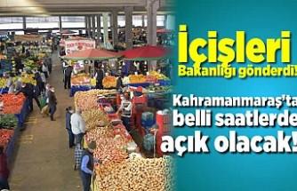 İçişleri Bakanlığı Kahramanmaraş'a gönderdi!