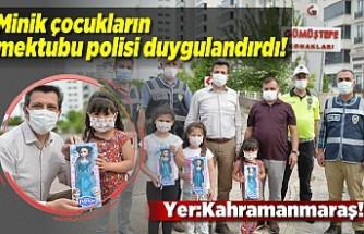 Kahramanmaraş'ta minik çocukların mektubu polisi duygulandırdı!
