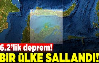 6.2'lik deprem! Bir ülke sallandı