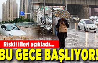 Aşırı sağanak yağış uyarısı! Riskli illeri tek tek açıkladı