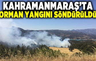 Kahramanmaraş'ta orman yangını söndürüldü! 20 hektar ormanlık alan zarar gördü
