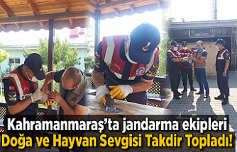 Kahramanmaraş'ta jandarma ekipleri Doğa ve Hayvan Sevgisi Takdir Topladı!