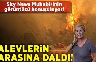 Muhabir alevlerin arasına daldı! Dünya bu görüntüyü konuşuyor