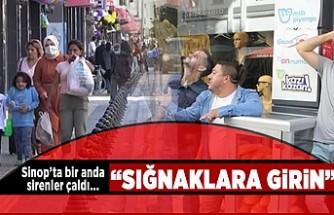 """Sinop'ta bir anda sirenler çaldı... """"sığınaklara girin"""""""