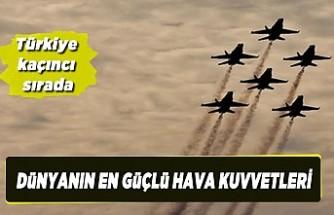 Dünyanın en güçlü hava kuvvetleri belli oldu! Türkiye birçok ülkeyi geride bıraktı...