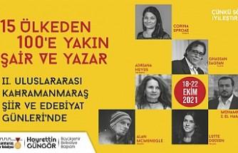Uluslararası Kahramanmaraş Şiir ve Edebiyat Günleri Başlıyor