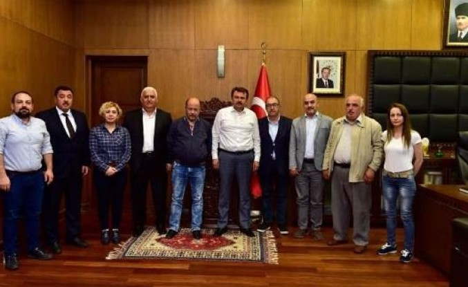Kahramanmaraş Gazeteciler Cemiyeti Erkoç'u ziyaret etti
