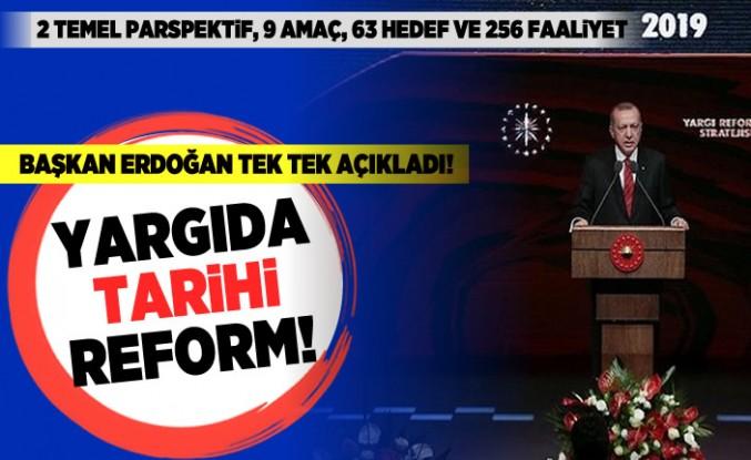 Başkan Erdoğan açıkladı! Yargıda tarihi reform!