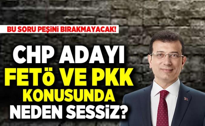 BU SORU PEŞiNi BIRAKMAYACAK! CHP ADAYI FETö VE PKK KONUSUNDA NEDEN SESSiZ?