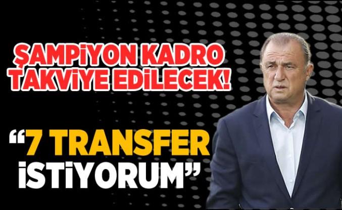 """7 Transfer istiyorum"""