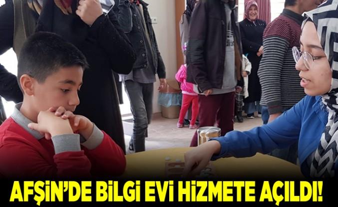 Afşin'de bilgi ve kültür evi açıldı!