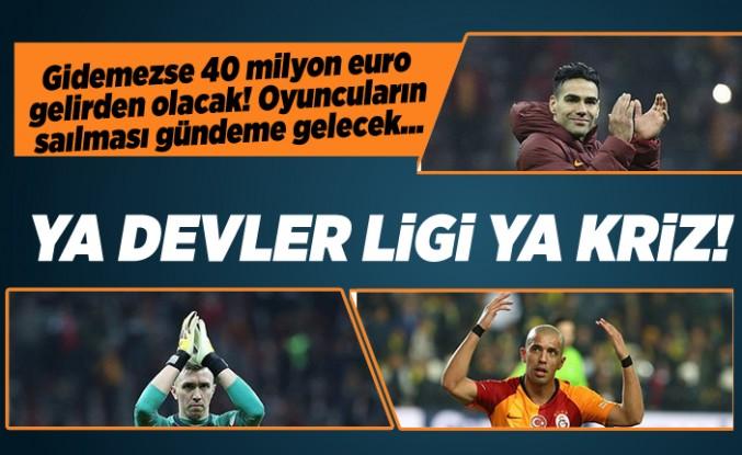 Galatasaray Şampiyonlar Ligi'ne gidemezse 40 milyon euro gelirden olacak!