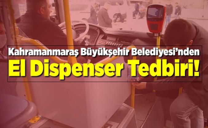 Toplu Taşıma Araçlarına Dezenfektan Dispenseri