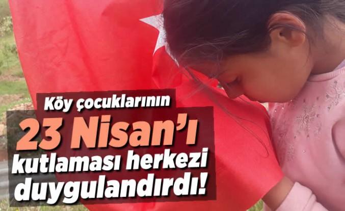 Köy çocuklarının 23 Nisan'ı kutlaması herkezi duygulandırdı!