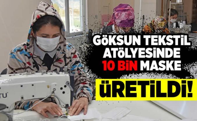 Tekstil  atölyesinde 10 bin maske üretildi!