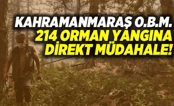 Kahramanmaraş Orman Bölge Müdürlüğü'nden 214 Orman Yangınına Müdahale!
