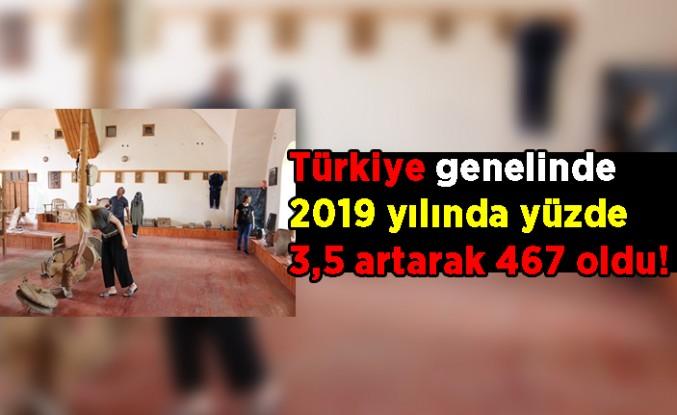 Türkiye genelinde 2019 yılında yüzde 3,5 artarak 467 oldu!