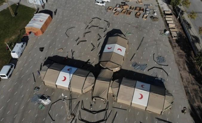 Van'da 'ağır iklim sahra hastanesi kurulumu' eğitimi