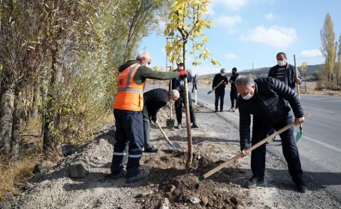 """Başkan Yalçın: """"Bugüne kadar 70 bin ağaç diktik"""""""