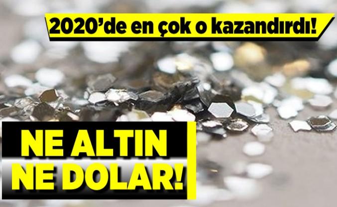 2020'de en çok o kazandırdı! Ne altın ne dolar!