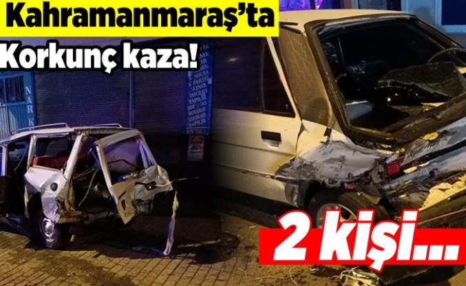 Kahramanmaraş'ta korkunç kaza! 2 kişi...