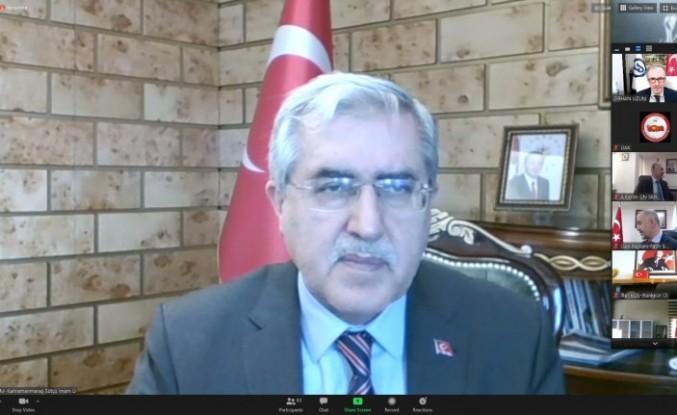 Üniversitemiz Rektörü Prof. Dr. Niyazi Can, Video Konferans Yöntemiyle Gerçekleştirilen Üniversitelerarası Kurul Toplantısına Katıldı