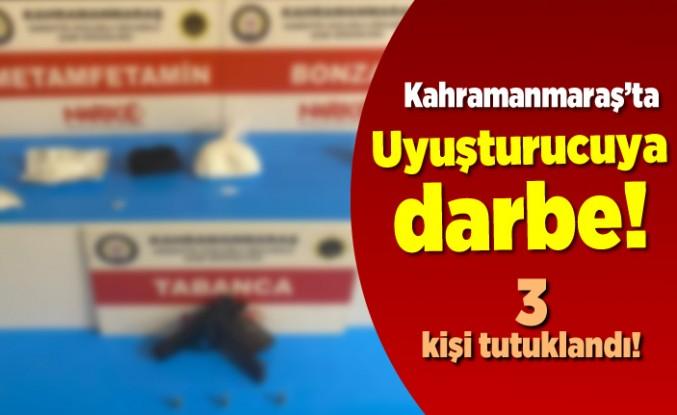 Kahramanmaraş'ta uyuşturucu operasyonu! 3 kişi tutuklandı!