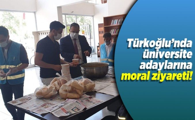 Türkoğlu'nda üniversite adaylarına moral ziyareti!