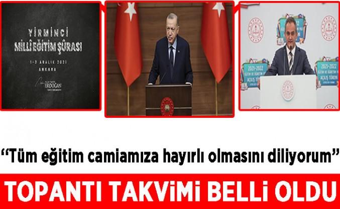 Başkan Erdoğan duyurdu: Milli Eğitim Şurası 1-3 Aralık'ta