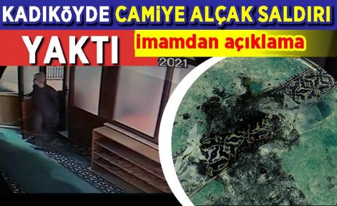 Kadıköy'deki Faikpaşa Camii'ne alçak saldırı! Bez parçalarını tutuşturarak yaktı.