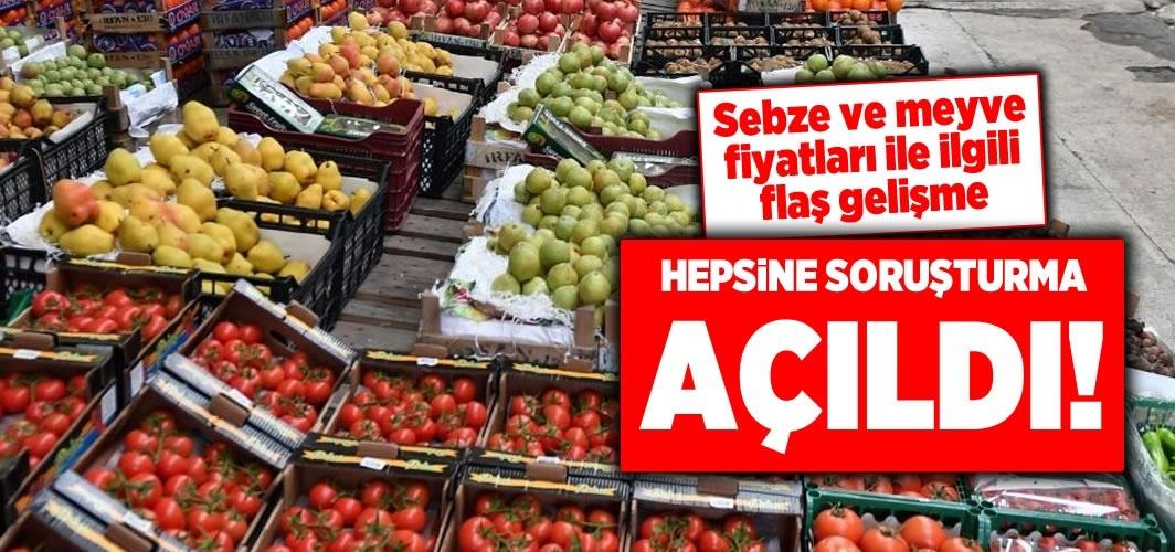 Sebze meyve fiyatları ile ilgili flaş gelişme!